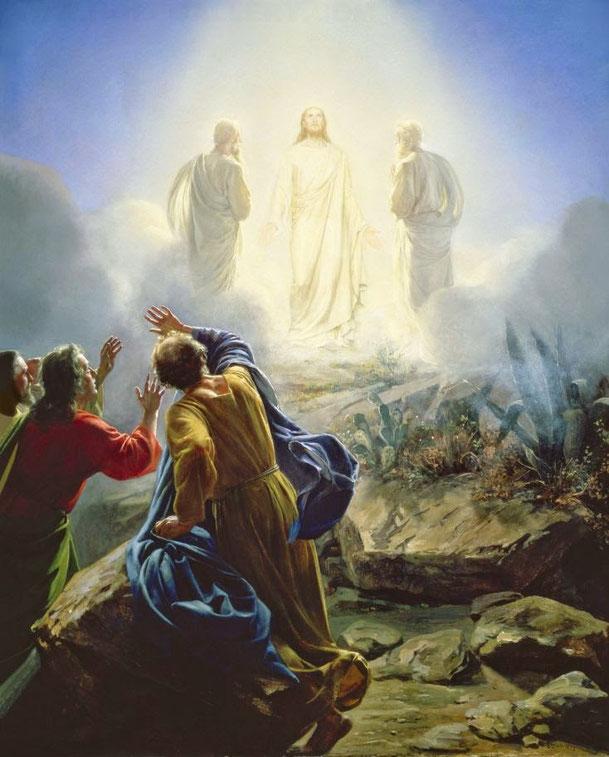 カール・ブロッホ「キリストの変容」、1800年代