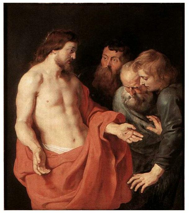 ペーター・パウル・ルーベンス「聖トマスの不信」、1577年、アントワープ王立美術館所蔵