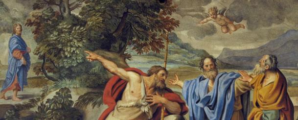 ドメニコ・ザンピエーリ「洗礼者ヨハネとアンデレとヨハネ」、1623-28年、サンタンドレア・デッラ・ヴァッレ教会(ローマ)