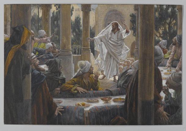 ジェームズ・ティソ「ファリサイ派への呪い」、1886-94年、ブルックリン美術館所蔵