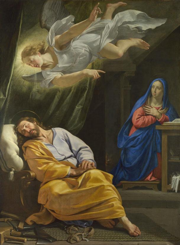 フィリップ・ド・シャンパーニュ「ヨセフの夢」 、1642ー1643年、ロンドン・ナショナル・ギャラリー