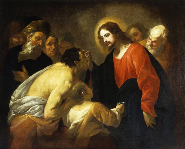 オラツィオ・デ・フェラーリ「生まれつきの盲人のいやし」、ストラーダ・ヌオーヴァ美術館