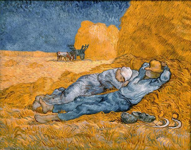 ヴィンセント・ヴァン・ゴッホ「正午の休憩」、1880−90年、オルセー美術館