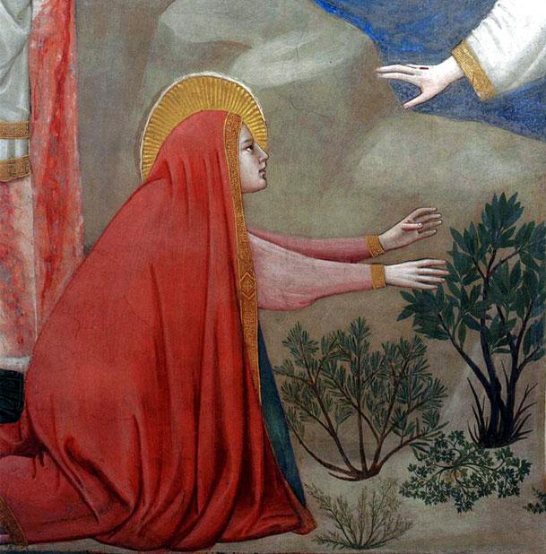 ジョット「我に触れるな(ノリ・メ・タンジェレ)」、1320年代、サン・フランチェスコ教会(アッシジ)
