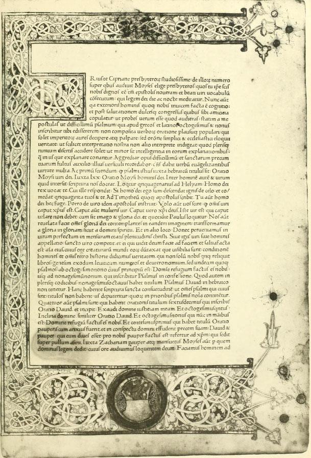 S. Hieronymus. Tractatus et Epistolae. Romae 1468.
