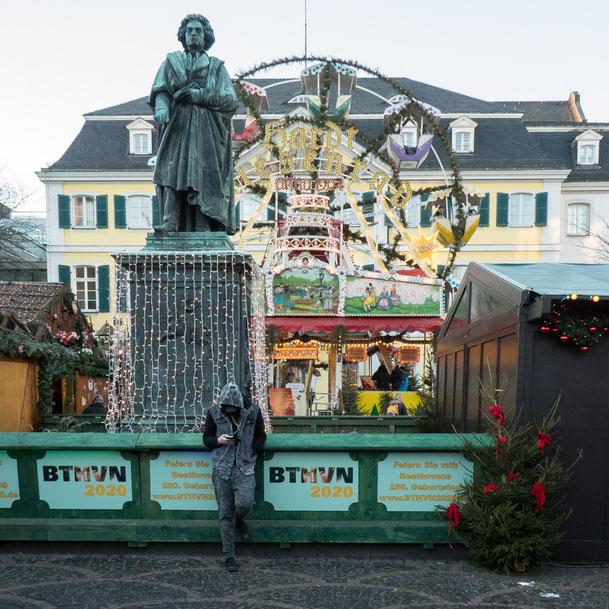 BTMVN2020, Beethovenjahr 2020, Beethoven, Jahrmarkt, Bonn, Münsterplatz, Post, Weihnachtsmarkt, christmas market, Beethoven year, La Bonn heure,