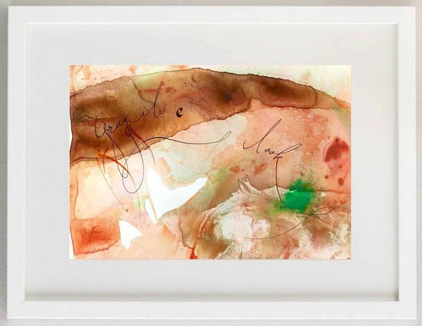 54 / SUSANNA CARDELLI, FRAGILE - LOOK, Acrilico e inchiostro, 30 x 20