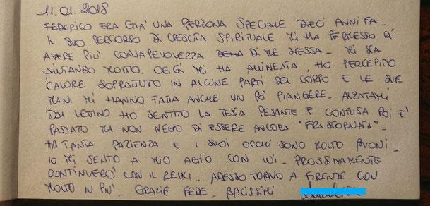 Testimonianza amica dalla Toscana venuta per ricevere l'Allineamento Divino Vertebrale