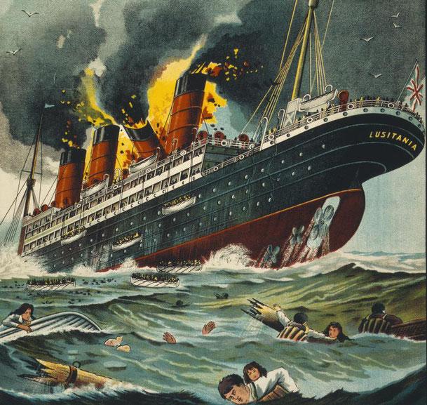 Document 1_ le torpillage du paquebot anglais Lusitania par un sous-marin allemand en 1915