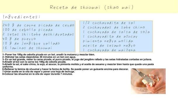 receta shuumai