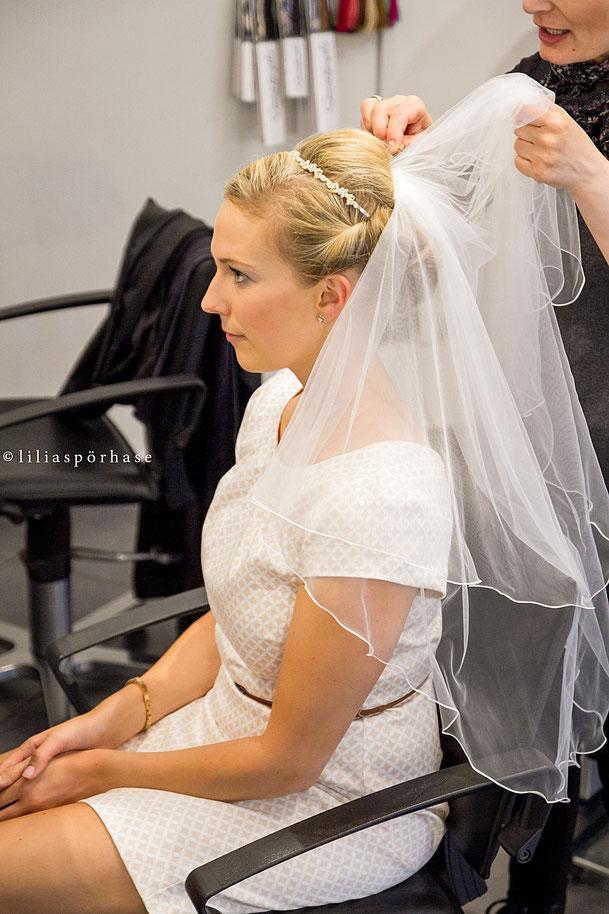 Brautfrisur, Hochzeitsfrisur, türkischer Friseur, Schleier, Hamburg,