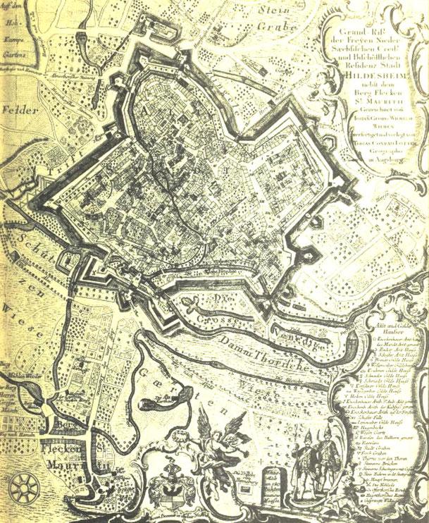 Hildesheim nach Lotter ca. 1740