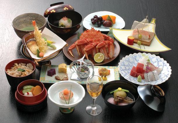 会席料理 蟹コース
