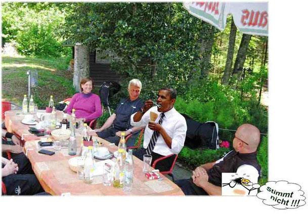 Barack auf dem Weg zum Treffen der G7