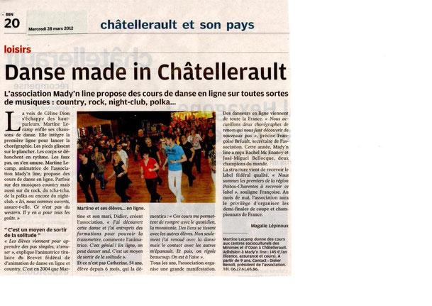 Article fait pendant Châtellerault 2012