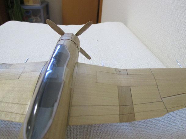操縦席と主翼部分(B7A1)(2014.09.14)
