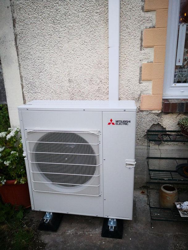 installation pompe a chaleur, climatisation, clim, pac air air