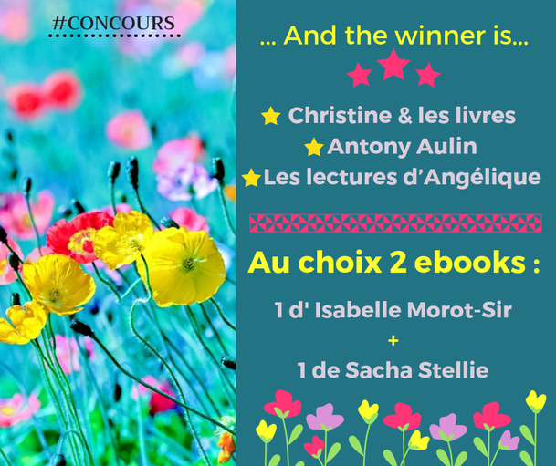 Sacha Stellie; Isabelle morot-sir, concours printemps; concours; ebook; livre; idee lecture; nouveauté litteraire