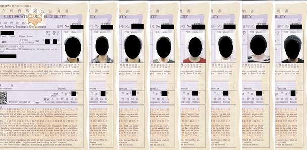 在留資格認定証明書交付申請書,記入例,