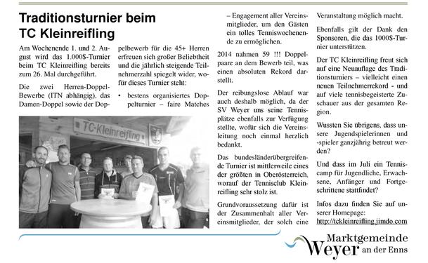 Beitrag in der Gemeindezeitung