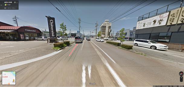 高岡中学校、シャトレーゼ玉鉾店からみた金沢市整体院ほしみぐさの道順