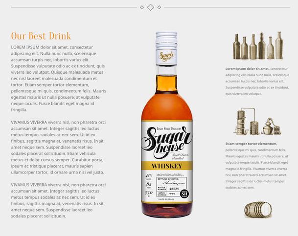 Ejemplo de página web con espacio en blanco entre la imagen y el texto.