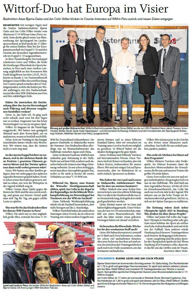 Interview-Nachbericht WM 2015