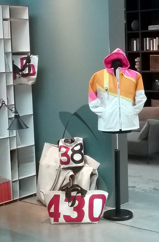 Segeltuch Design Upcycling Jacken Taschen Sailart Fashion