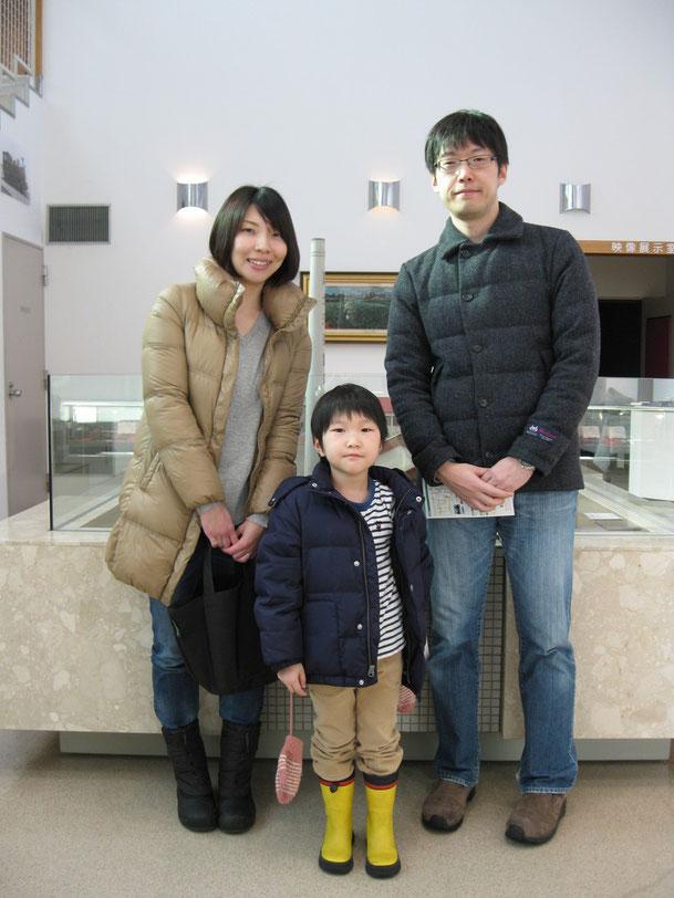 札幌からご来館のT・K様ご家族