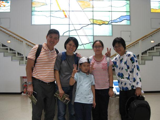 シンガポールからご来館のKenney様ご家族
