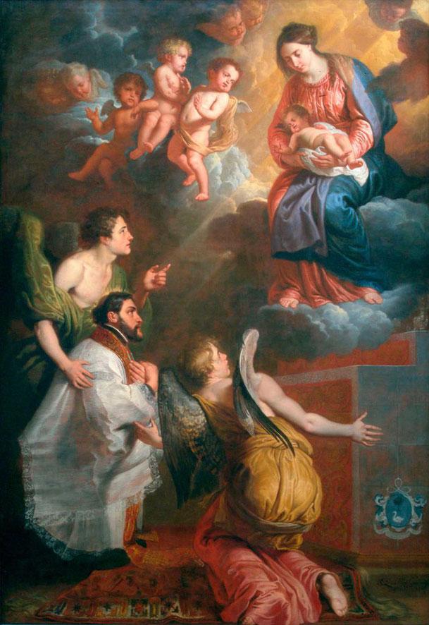 エラスムス・クェリヌス2世「聖フランシスコ・ザビエルのヴィジョン」1656年、インディアナポリス美術館