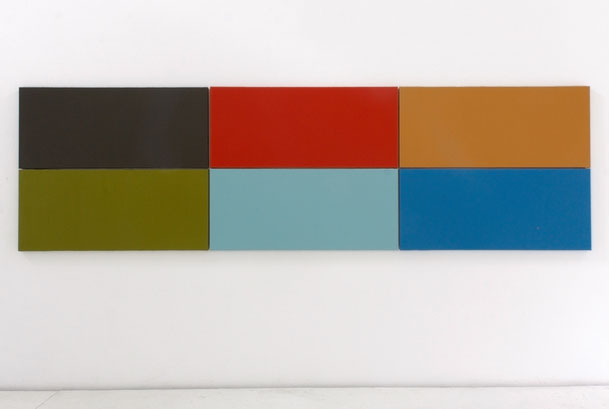 Daniel Schörnig  FILM COLORS II, AVERAGE AND HIGHLIGHTS  2015-2021  acrylic on canvas in six parts