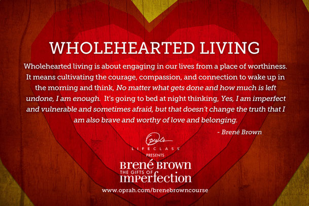 The Gifts of Imperfection, Self-esteem, Brene Brown