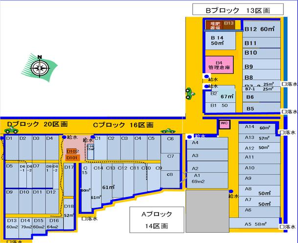 れんげいじファームABCDブロック図