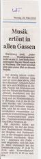 Fête Ankündigung im Weilburger Tageblatt März 2012
