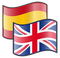 English Spanish flags