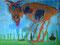 Die Muh-Kuh_90x130 cm_Acryl auf Leinwand_2013