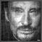 Johnny Hallyday  97 x 97 cm
