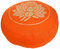"Meditationskissen Yogakissen Zafu Gr.S ""Lotus"" orange"
