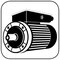 B14gr, der Flanschmotor, die Flanschbauform des IEC Normmotors (kleinerer Flanschring).