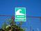 Warnung - Tsunamifluchtweg am Pazifik westlich von Valdivia
