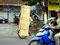 Maximallast - Fahrrad mit Bastteppichen