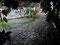 Nasse Begrüßung - Blick aus der Tür unseres Hostels in Florianolpolis,...