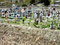 Wiederverwertung auf peruanisch - Friedhof mit Plastikschmuck