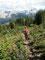Abwärts - Rückweg von den Bald Hills