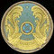 Kazajistán (escudo nacional).
