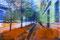 Ohne Titel 2015   übermalte Fotografie   13 x 18 cm