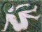 「はこ少女olive」         F0キャンバス    刺繍,パステル,ペン