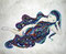 「ネハン」          F3キャンバス     刺繍,油彩,メディウム