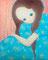 「かえるの子」            F15キャンバス   油彩,メディウム